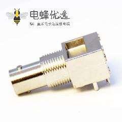 穿墙BNC连接器同轴射频弯式母头面板安装