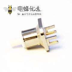 BNC端子接PCB板母头直式卡板式连接器75欧姆