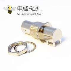 BNC母座接PCB板端接线弯式母头75欧姆