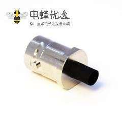 母头BNC高清焊线直式75欧姆接线连接器接线端子式