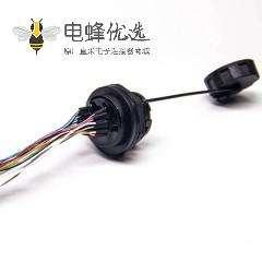 防水HDMI板端接头带线19p母座防水等级IP65 IP67