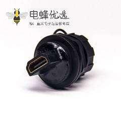 防水HDMI接头19p母座板端防水HDMI插头