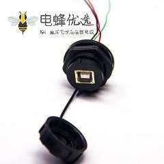 4p防水USB接头带4芯线面板式防水等级IP67