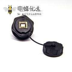 USB BF防水接面板式带防尘盖