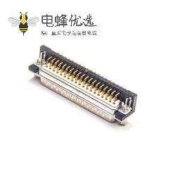 D-sub37PIN公头90度焊板叉脚镀金车针