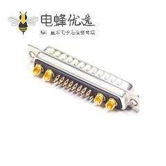 D-sub 21W4公头焊线