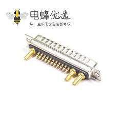 D-sub 25W3公头焊线