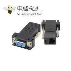 VGA转RJ45母转母接头网络延长器网线传输信号网线延长转换头
