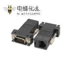 RJ45转VGA母转公网线转接头网线连接器显示器转网线接头