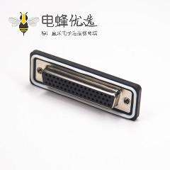 防水D-sub连接器 50针母头焊线
