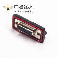 防水DB座 15针母头弯头插板铆鱼叉带挡板