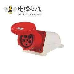 5芯5孔工业插座明装125A 415V IP67