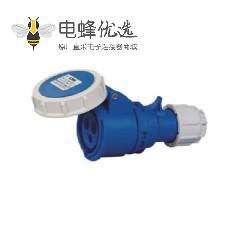 防水工业连接器32A 3芯蓝色IP67