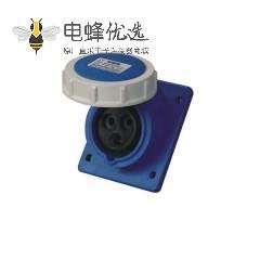 工业暗装斜座 32A 3芯 IP67防水
