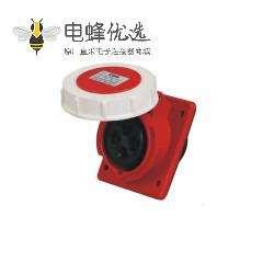 工业插座 4芯 16A 45度斜插座