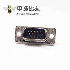 D-sub HDB 公头焊线式三排15针黑胶