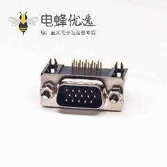 D-sub HDR 15PIN母座90度插板