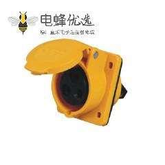 16A 3芯工业插座 暗装斜插 IP44