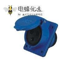 16A IEC60309 工业暗装插座 45度斜插 3芯