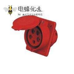 32A 5芯暗装斜座 IEC60309 工业暗装插座 45度斜插