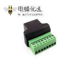 RJ45母头转端子 接线网络对接RJ45 网口转8PIN端子