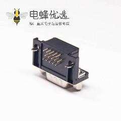 D-sub HDR 15PIN公针90度插板