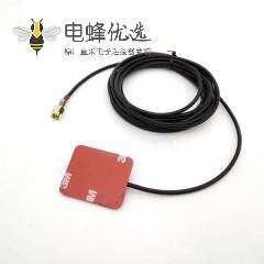 GSM 板状天线粘贴式安装接RG174 尺寸是35X29X0.4mm