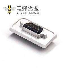 DB9 防水铝合金外壳防水D-sub 9 Pin 母头插板