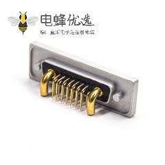 防水17W2 铝合金外壳防水大电流 母头弯头插板带白色防水圈