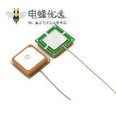 内置瓷块GPS天线25*25*4mm接1.13线
