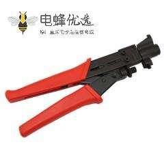 剥线钳子红色同轴线缆剥线钳适用于RG6, RG59