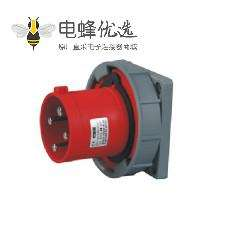 125A 4芯 暗装插座 IEC60309 380V-415V