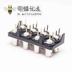 8同轴BNC连接器 PCB 射频 连接头直式50欧姆锌合金