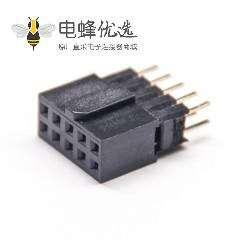 2.54间距双排插座三塑排母穿孔2pcs