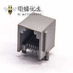 rj12端口弯式全塑不带屏蔽网络端口插PCB板