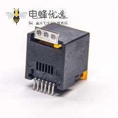 rj12 6p6c贴片接PCB板直式180度单口带盖