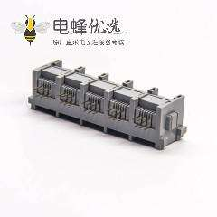 r12插座90度母座1x5端口非屏蔽不带灯
