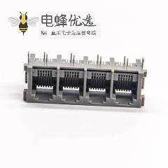 rj11连接器1x4单排6P2C弯式插PCB板非屏蔽