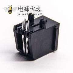 rj11母座2P2C网络模块化连接器非屏蔽式全塑外壳