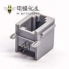 RJ9 4p4c弯式以太网连接器全塑不带屏蔽接口插板