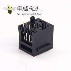 rj25连接器6p6c直式非屏蔽不带灯式插座插PCB板