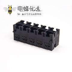 黑色塑料rj9插座2x5穿孔式不带屏蔽