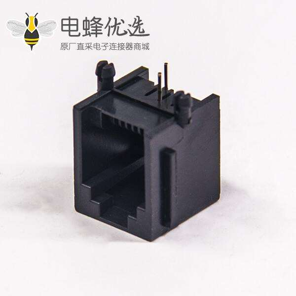 rj11网络接口全塑插座弯角直插式6p2c非屏蔽