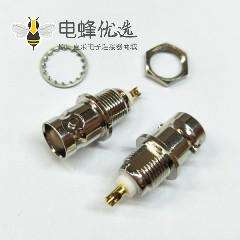 BNC后锁穿墙母头连接器焊接式接线