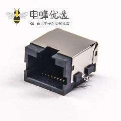 沉板式RJ45直式8p8c带屏蔽半包式模块化连接器