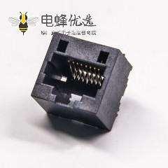 rj45母接插件180度超薄非屏蔽式8p8c黑色接口