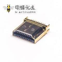 HDMI公座接头19p直角180度4个角