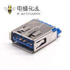 USB3.0 A母插板180度铜壳1U''无卷边