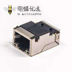 rj45带滤波器系列SMT屏蔽式带灯左黄右绿以太网接口