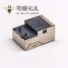 rj45带滤波器直式插孔带屏蔽沉板式插座